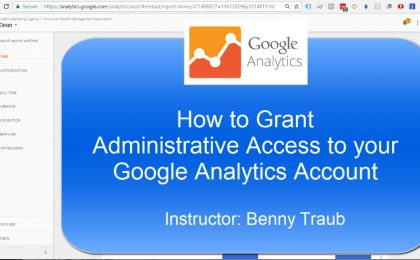 How to give someone access to your Google Analytics account